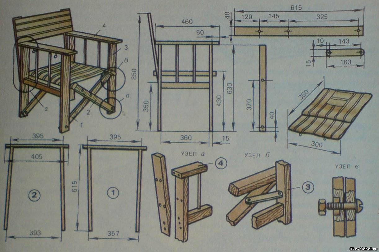 Кресло для отдыха своими руками фото чертежи и ход работы 9